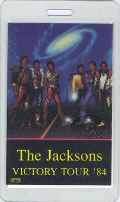 THE JACKSONS 1984 LAMINATED BACKSTAGE PASS Staff Michael Jackson