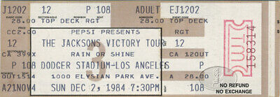 THE JACKSONS 1984 VICTORY TOUR Unused Concert Ticket Dodger Stadium Michael