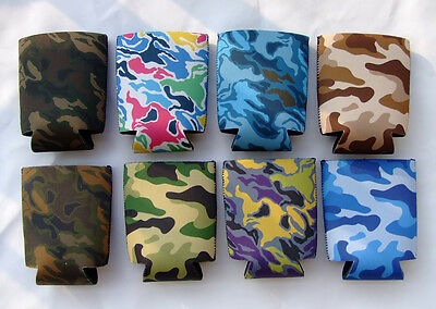 Lot Of 8Pcs Camo Beer Can Coolers Cola Cooler Soda Bottle Holder Stubby Koozies
