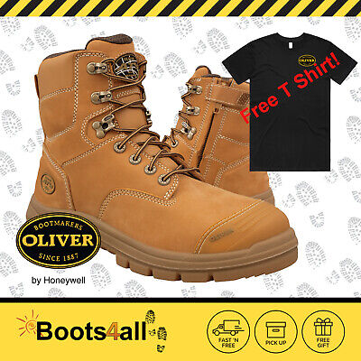 New Oliver Men's Work Safety Boots Shoes Wheat Steel Toe ZIP AU/UK Size 55332Z