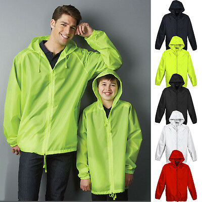 Unisex Base Jacket Adult Kids Children Men's Womens Showerproof Spray Boys Girls
