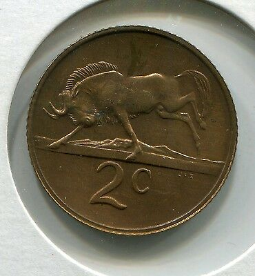 South Africa Coin - 1977  UNC 2c