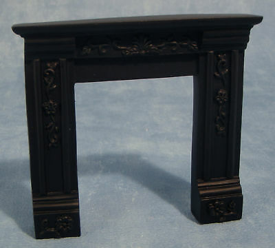 Dolls House 1/12 scale Black Resin Fire Surround