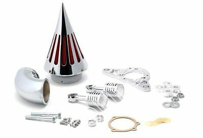 Chrome Spike Air Cleaner Intake Filter For Harley EFI Twin Cam Rocker Softail