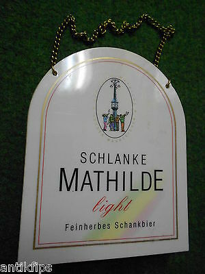 Schlanke Mathilde light Zapfhahnschild 392