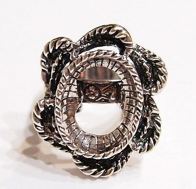 2 of 18x13mm Antique Silver Vintage Art Deco Twisted Rope Victorian Ring Setting