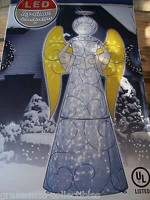 4 Ft Lighted Icy Glow Angel 50 Led Lights New