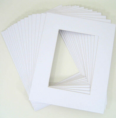 25 White 11x14 mats for 8x10 Whitecore mattes