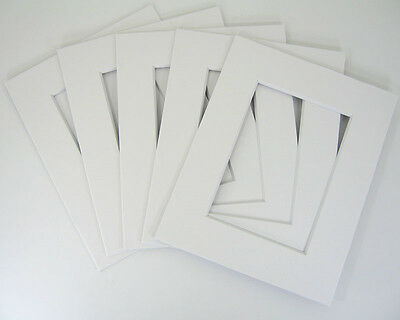 50 White 11x14 Mats Matting for 8.5x11