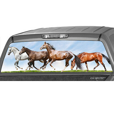 Indians soldiers Horses Version 1 Painting Rear Window Graphic Decal Truck SUV