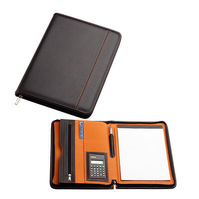 Compendium Black A4 Leather Styled  / Metal pen and desk organiser included.