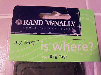 New Rand McNally set of 2 x LUGGAGE TAG with HIDDEN ID