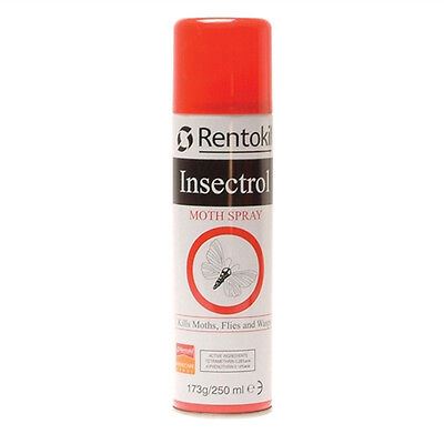 Rentokil Insectrol Moth Killer Spray 250ml PS127 - Also kills Fly and Wasps