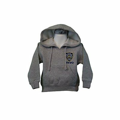 Kids NYPD New York Police Department Embroidered Hoodie Gray Sweatshirt XS-L