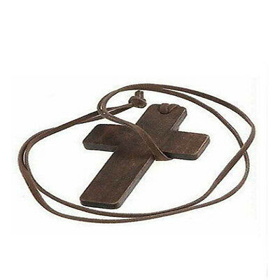 New Retro Fashion Ancient Cute Wooden Christian Religous Cross Necklace Pendant