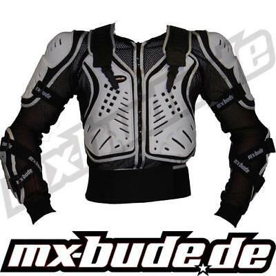 MX-Bude Safety Jacket schwarz-weiss Motocross Enduro Cross MTB Quad MX FMX DH