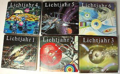 6x Bücher LICHTJAHR SF 1,2,3,4,5,6 Sammlung DDR Ostalgie Science Fiction GDR