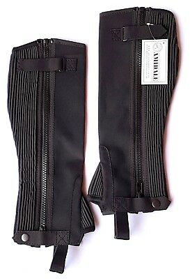 Half Chaps Horse Riding Equestrian Black Amara Small / Medium / Large / Xl Bnwt