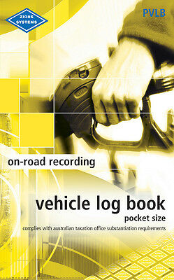 Vehicle Log Book  pocket size Zions Systems ATO Compliant , PVLB Car/Truck *NEW*