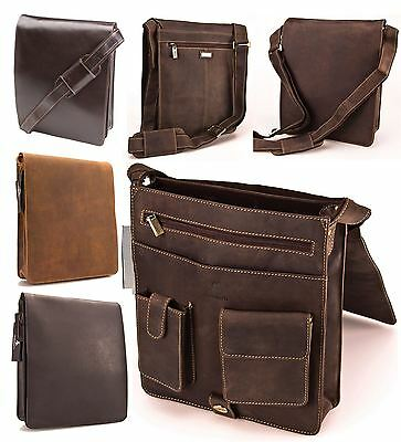 Visconti Mens Distressed Real Leather Cross Body Messenger Bag JASPER 18410