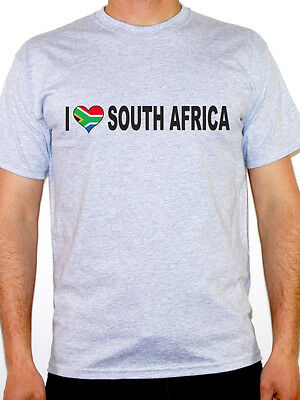 I Love South Africa T-Shirt - Mens - Various Sizes and Colours