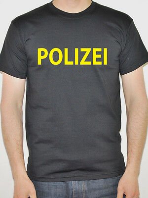 Polizei - German Police Themed T-Shirt - Mens - Various Sizes and Colours