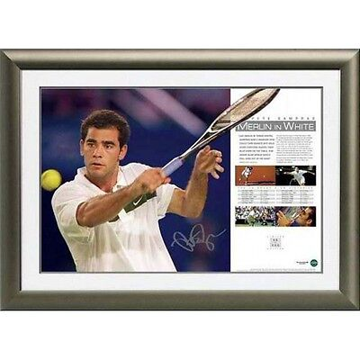 Pete Sampras Signed Limited Edition 'merlin In White' Print Federer Nadal Hewitt