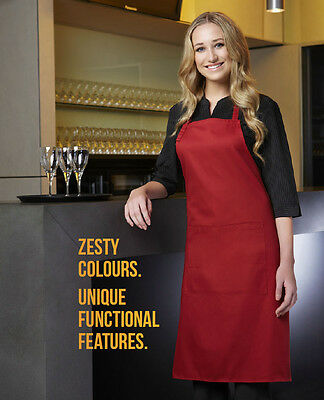 Bib Style Aprons Pocket Cafe Bars Restaurants Clubs Hotels Brand New 14 Colours