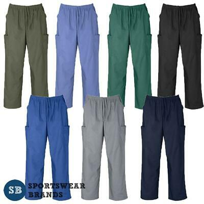 Men's & Ladies Unisex Classic Scrub Cargo Pants Nurse Doc Medical Healthcare New