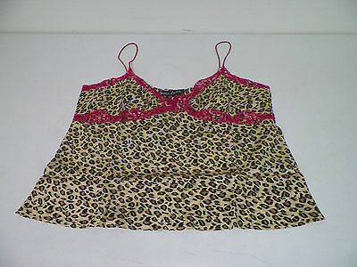 Woman's Susan Lucci Hsn Leopard With Pink Lace Silk Camisole Size 20W New