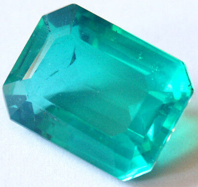 Huge Stunning 17.6 cts Octagon Irradiated Emerald color Quartz