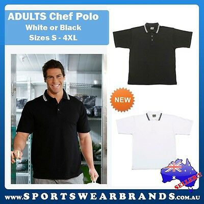 New Adults Chef Polo Unisex Sizes S-4XL Restaurant Bar Hotels Clubs Uniforms 5MP