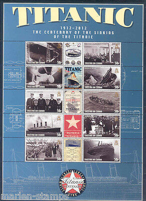 Tristan Da Cunha Centenary Of The Sinking Of The Titanic Sheet Of 10