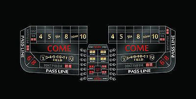 Craps Layout 12 foot Casino quality choice of colors