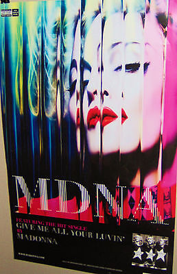 MADONNA  MDNA Give Me All Your Lovin' Original Full Color Promo Poster Very COOL