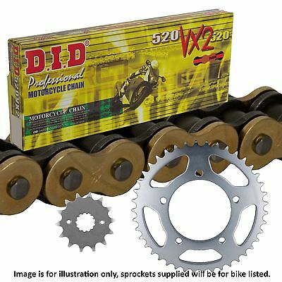Kawasaki GPZ500 S EX A7 D1-7 E9-10 2002 DID Gold X-Ring Chain and Sprocket Kit