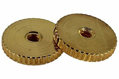 Steel ABR-1 Bridge Thumbwheels with coarse knurling fits USA Gibsons Gold