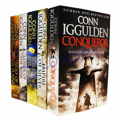 Conqueror Series Collection 5 Books Set Story of The Khan Dynasty Conn Iggulden