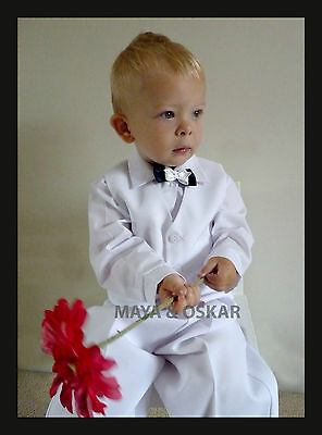 Baby Boy White Outfit Smart Suit Wedding Christening Formal Party Baptism 0-24m