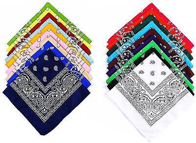 Bandana Handkerchief Paisley New Double Side Print Mens Womens Scarf Cotton