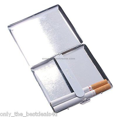 METAL CIGARETTE CASE TIN BOX 20 FAGS KINGSIZE FREE P&P