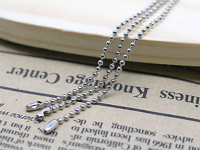 20pcs 18'' Stainless Steel Ball Chain Necklace 1.5mm Bead with Connector