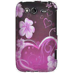 Rubberized Protector Case for HTC Wildfire S CDMA - Exotic Love
