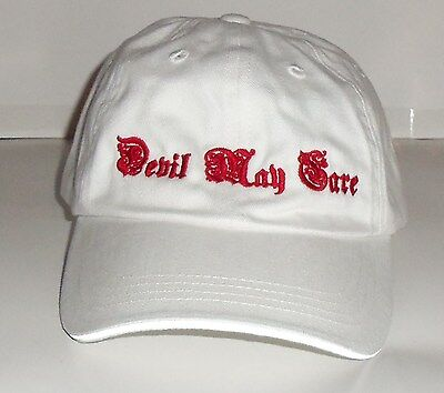 "NEW!  WOMENS PORT AUTHORITY SIGNATURE ""Devil May Care"" NOVELTY  BASEBALL HAT"