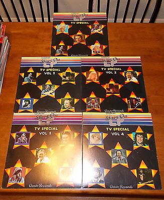 VINTAGE OLD RARE RECORD COUNTRY STARS ON LP TV SPECIAL SET LOT 1-5 NICE