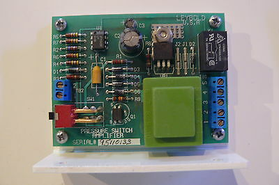 LEYBOLD PRESSURE SWITCH AMPLIFIER UNIT SERIAL 95110133