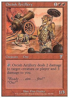 MTG x4 Orcish Artillery Playset Revised 3rd Edition Magic Red Mountain