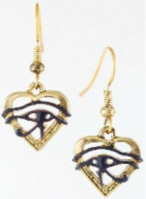 Eye of Horus Heart Earrings  ~~ 25% off ~~ Less than $5.00 !!