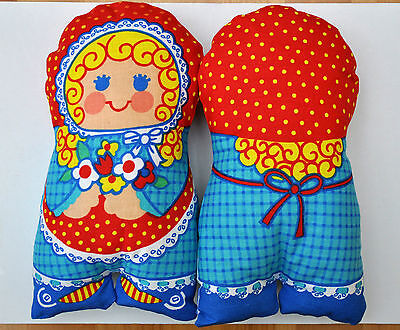 HAND MADE COTTON FABRIC STUFFED TOY DOLL only 1.20p