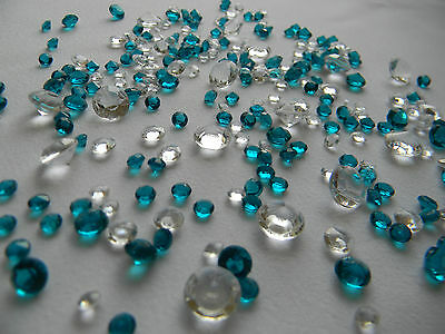Diamond Table Confetti/Scatter Crystals - Mixed sizes - MANY COLOURS